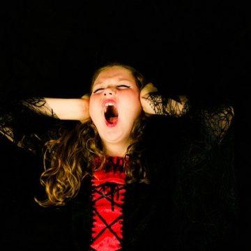 screaming girl throwing tantrum